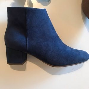 🔹COBALT BLUE SUEDE Ankle Booties CITYCLASSIFIED